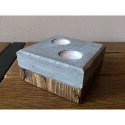 Svícen beton/dřevo